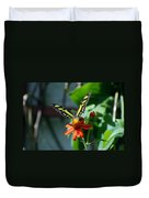 Blooms And Butterfly1 Duvet Cover