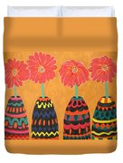 Blooms In Native Dress Duvet Cover