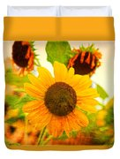 Blossoming Sunflower Beauty Duvet Cover