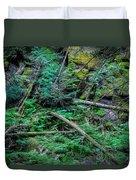 Blow Down Glacier National Park Painted Duvet Cover
