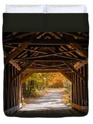 Blow-me-down Covered Bridge Cornish New Hampshire Duvet Cover by Edward Fielding
