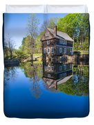 Blow Me Down Mill Cornish New Hampshire Duvet Cover by Edward Fielding