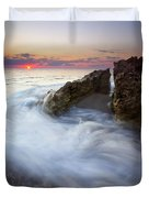 Blowing Rocks Sunrise Duvet Cover