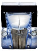 Blue 1937 Chevy Too Duvet Cover