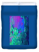 Blue Abstract Trunk Duvet Cover