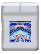 Blue Agate Abstract II Duvet Cover