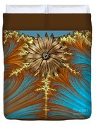 Blue And Brown Synergy Duvet Cover