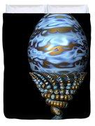 Blue And Golden Egg Duvet Cover