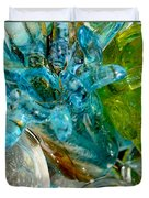 Blue And Green Glass Abstract Duvet Cover