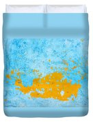Blue And Orange Wall Texture Duvet Cover