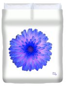 Blue And Pink Dahlia Duvet Cover