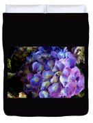 Blue And Purple Hydrangeas Duvet Cover