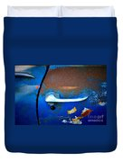 Blue And Rusty Picking Duvet Cover