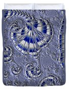 Blue And Silver 1 Duvet Cover