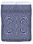 Blue And Silver 2 Duvet Cover