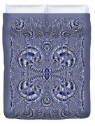 Blue And Silver 3 Duvet Cover