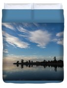 Brushstrokes On The Sky - Blue And White Serenity Duvet Cover
