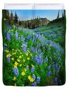 Blue And Yellow Hillside Duvet Cover