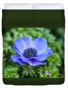 Blue Anemone. Flowers Of Holland Duvet Cover
