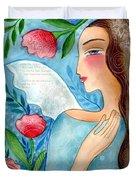 Blue  Angel Duvet Cover by Elaine Jackson