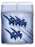 Blue Angels Fa 18 V19 Duvet Cover
