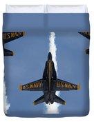 Blue Angels Overhead Break  Duvet Cover