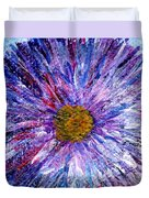 Blue Aster Miniature Painting Duvet Cover