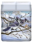 Blue Bandits Winter Afternoon Duvet Cover