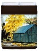 Blue Barn Duvet Cover