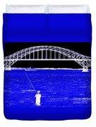 Blue Bay Bridge Duvet Cover