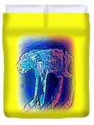 The Blue Beast Inside Of Me Is Waiting For You  Duvet Cover