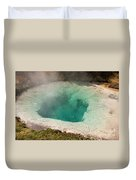Blue Bell Pool In West Thumb Geyser Basin In Yellowstone National Park Duvet Cover