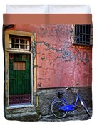 Blue Bicycle Monterosso Italy Dsc02592  Duvet Cover