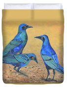 Blue Birds Of Happiness Duvet Cover