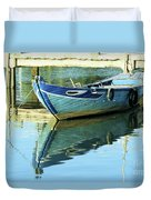 Blue Boat 01 Duvet Cover
