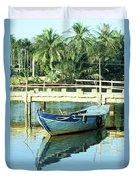 Blue Boat 02 Duvet Cover