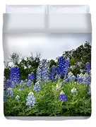 Blue Bonnet Carpet V9 Duvet Cover