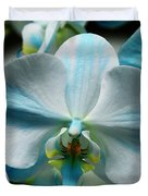 Blue Bow Orchid Duvet Cover