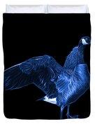 Blue Canada Goose Pop Art - 7585 - Bb  Duvet Cover