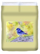Blue Chaffinch Duvet Cover