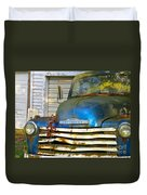 Blue Chevy   Duvet Cover