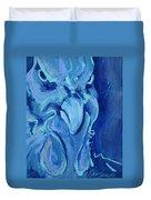 Blue Chicken Duvet Cover