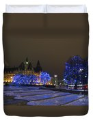 Blue Christmas.. Duvet Cover