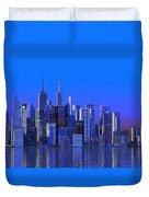 Chicago Blue City Duvet Cover