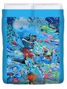 Blue Confusion Duvet Cover
