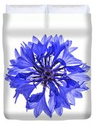 Blue Cornflower Flower Duvet Cover