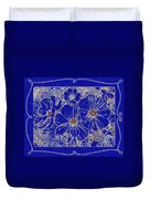Blue Cosmos Abstract Duvet Cover