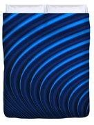 Blue Curves Duvet Cover