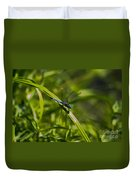 Blue Damsel Dragon Fly Duvet Cover