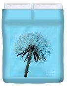 Blue Dandelion Wish Duvet Cover